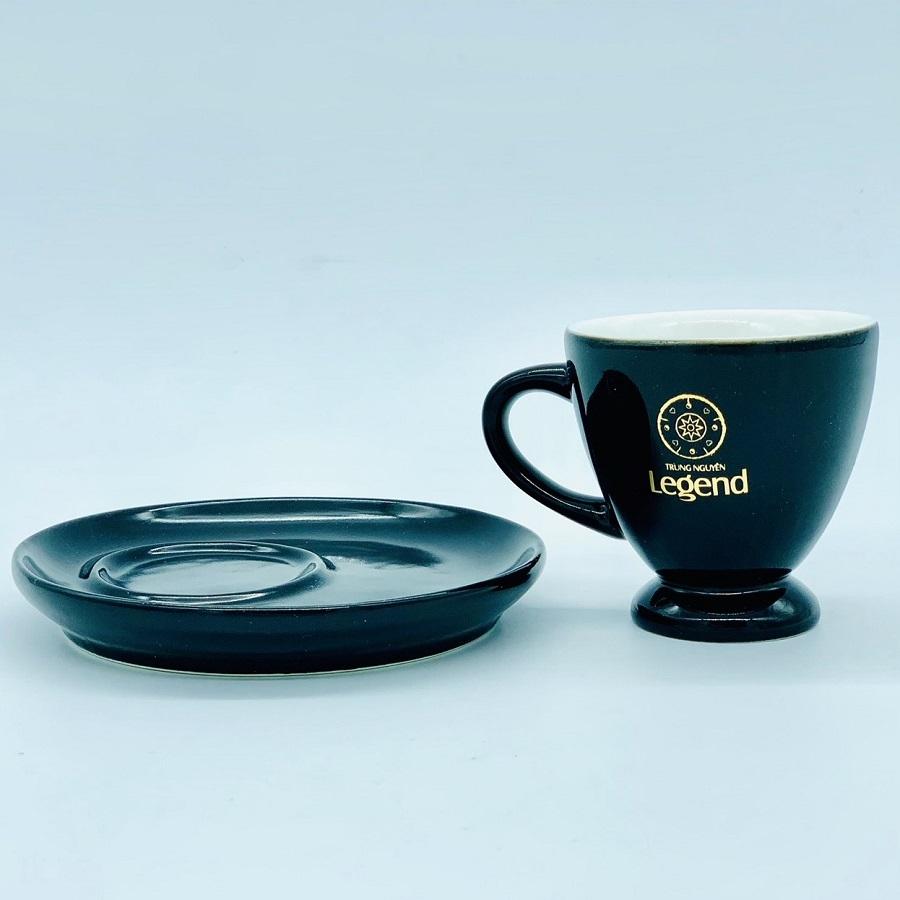 Bộ Tách Đĩa Trung Nguyên Legend Gốm Bát Tràng( Uống cà phê Nóng)