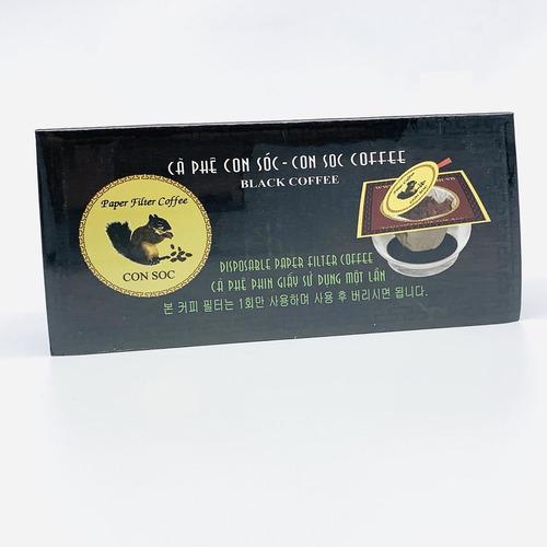 Cafe Con sóc phin lọc Đơn Đen( Hộp 10 phin giấy) - Hình 3