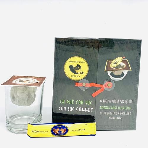 Cafe Con Sóc phin lọc Đôi Đen( Hộp 20 phin giấy) - Hình 1