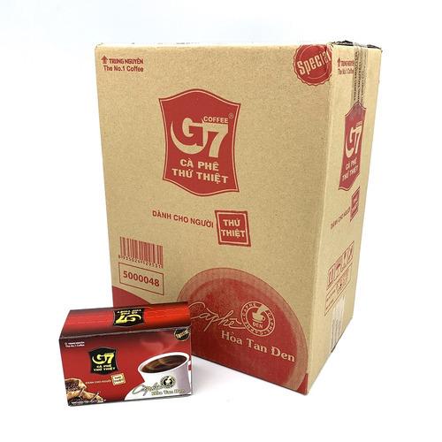Cafe G7 hòa tan Đen Hộp 15 gói Thùng 24 Hộp - Hình 1