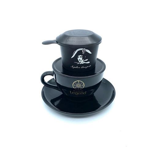Ly gốm Cappuccino đen bóng Bát Tràng Trung Nguyên - Hình 3