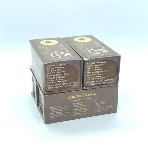 Combo 4 Hộp Cà phê Con sóc đơn Nâu( 4 Hộp x 10 gói/Hộp) - Hình 3
