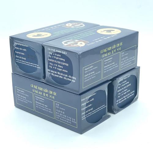 Combo 4 Hộp Cà phê Con sóc đơn Xanh( 4 Hộp x 10 gói/Hộp) - Hình 3
