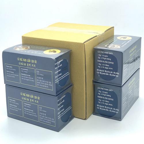 Combo 4 Hộp Cà phê Con sóc đơn Xanh( 4 Hộp x 10 gói/Hộp) - Hình 5