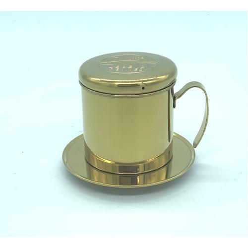 Phin pha cà phê bằng Inox( Loại tốt - Inox 304) Logo Con Chồn - Hình 1