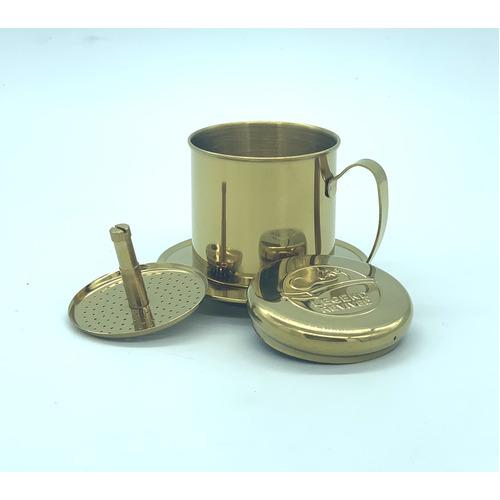Phin pha cà phê bằng Inox( Loại tốt - Inox 304) Logo Con Chồn - Hình 2