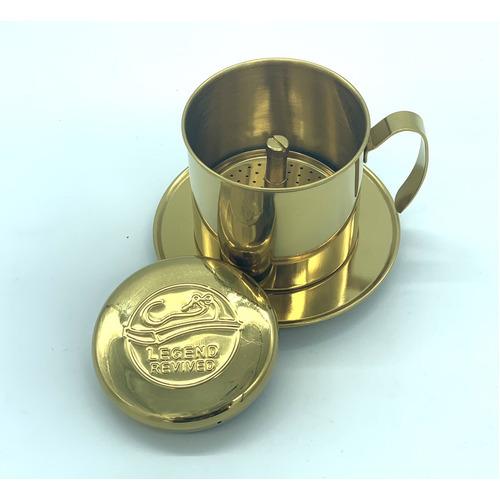 Phin pha cà phê bằng Inox( Loại tốt - Inox 304) Logo Con Chồn - Hình 5