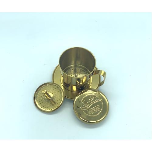 Phin pha cà phê bằng Inox( Loại tốt - Inox 304) Logo Con Chồn - Hình 6