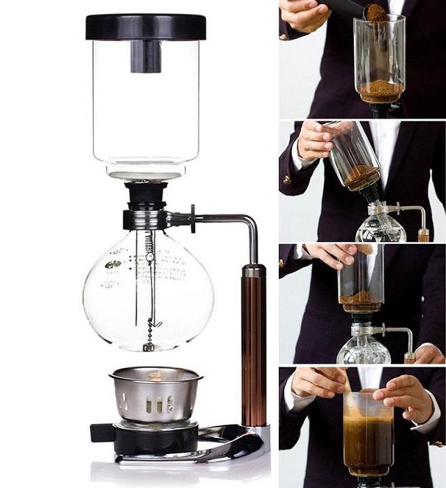 Cáchsử dụng cho Bộ pha Cafe Syphon Hario như thế nào là chuẩn
