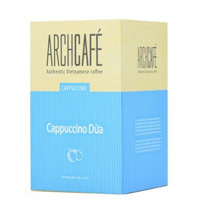 Cà phê Cappuccino vị Dừa - Cafe hoà tan Archcafé