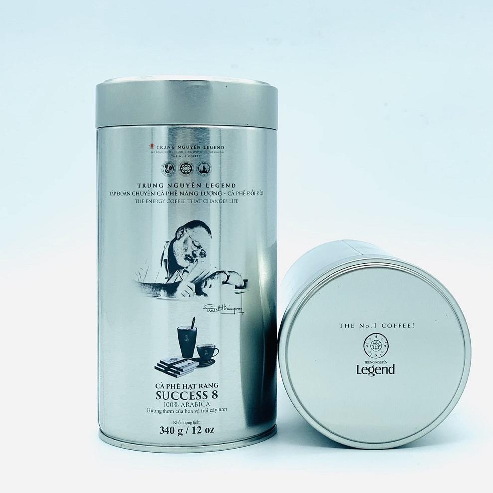 Cà phê hạt Trung Nguyên Legend Success 8 Mộc Lon 340gam