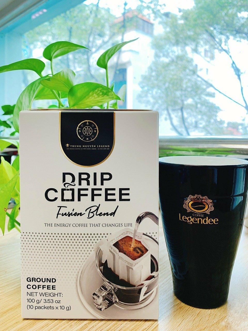 Cà phê Phin Giấy Trung Nguyên Fusion Blend( Hộp 10 Phin)