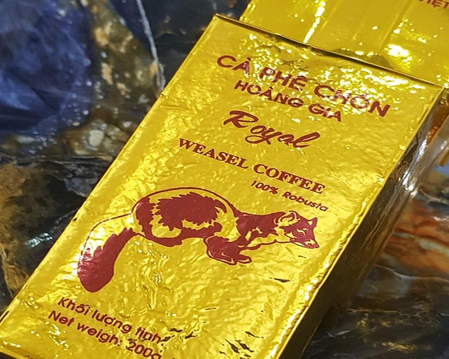 Cafe Chồn Hoàng Gia Hộp 200gam