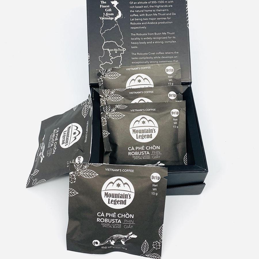 Cà phê chồn túi lọc Robusta ( Hộp 5 gói)