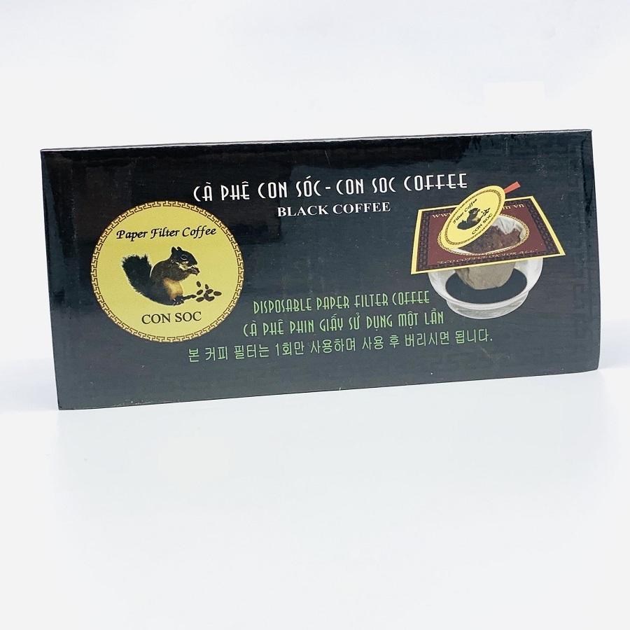 Cafe Con sóc phin lọc Đơn Đen( Hộp 10 phin giấy)
