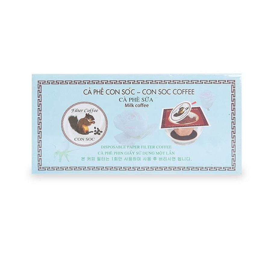 Cafe Con Sóc Sữa phin lọc đơn (Hộp 10 phin lọc)