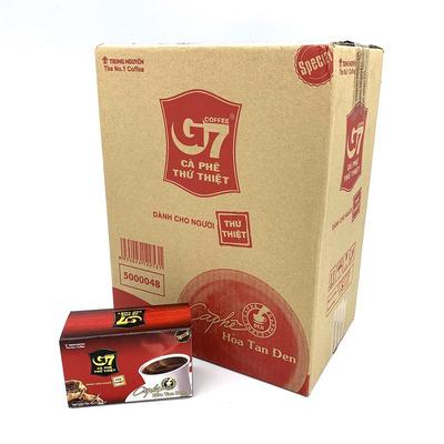 Cafe G7 hòa tan Đen Hộp 15 gói Thùng 24 Hộp
