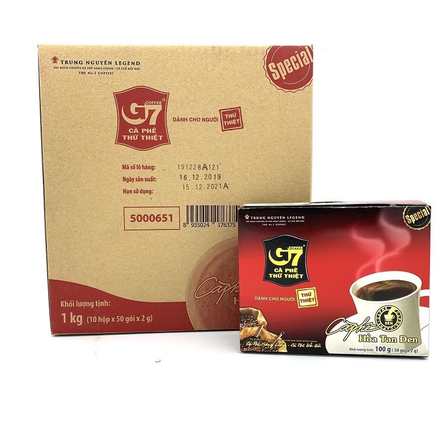 Thùng cafe G7 hòa tan đen Hộp 50 gói - 10 Hộp/Thùng