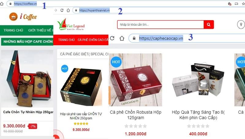 website an toàn cho mua sắm đồ uống: Trà, Cafe,..vv