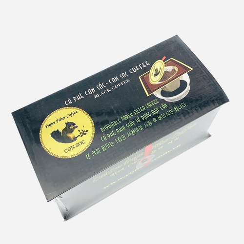 Cafe Con sóc phin lọc Đơn Đen( Hộp 10 phin giấy) - Hình 4