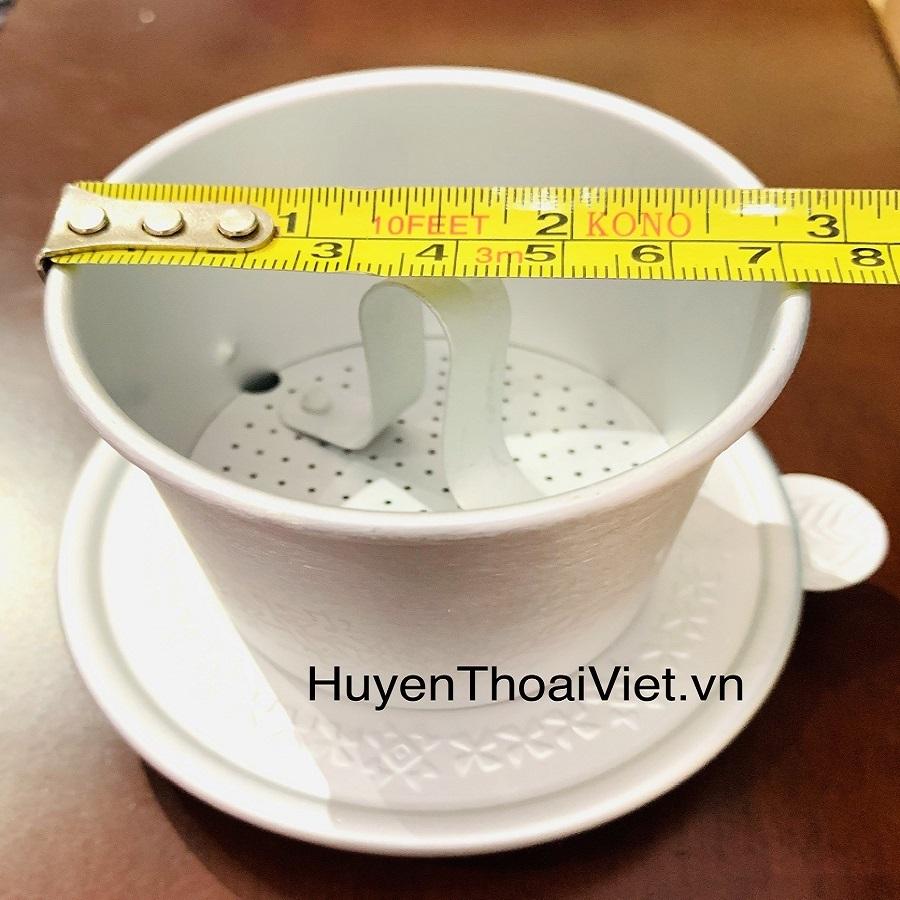 Kích thước và thể tích của Phin pha Nhômcafe Trung Nguyên