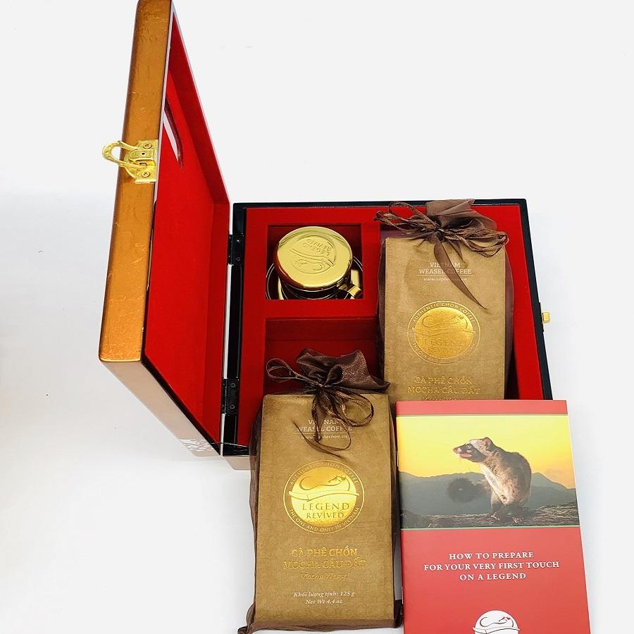 Hộp quà Cà phê Chồn Mocha - Hộp quà cho Đối Tác Ngoại Giao